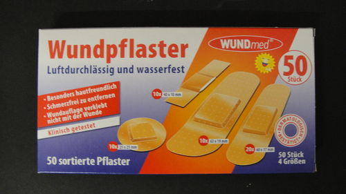 Wundpflaster 50 Stk. in Packung