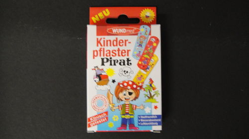 Kinderpflaster Pirat 10 Stk. in Packung