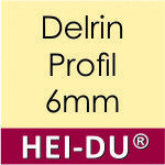 Delrin, Profil, dick, 6mm