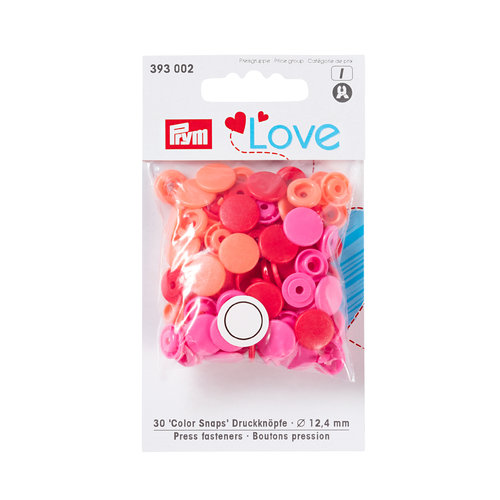 Prym Love 30 Color Snaps 12,4mm rot sortiert