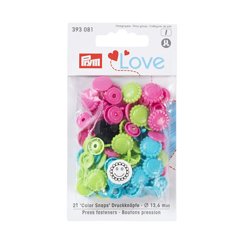 Prym Love 30 Color Snaps Sterne 12,4mm rot, weiß, marine